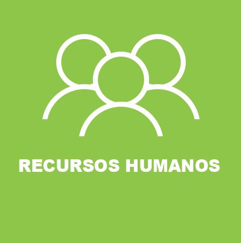 Logotipo de los Estudios de Recursos Humanos en fondo de color verde.